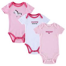 BABY BODYSUITS 3PCS 100%Cotton Infant Body Short Sleeve Clothing Similar Jumpsuit Printed Baby Boy Girl Bodysuits(China (Mainland))