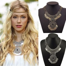Buy 2017 New Arrivals Bohemian Vintage Maxi Necklace Collier Femme Women Fashion Tassel Coin Statement Necklace Ethnic jewelry for $3.41 in AliExpress store
