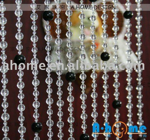 Cg016 crystal glass bead curtain door curtain room divider in curtains from home garden on - Glass beaded door curtains ...