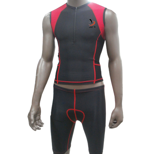 Red Professional Ironman Triathlon Suits Lycra Compression Men Wetsuit Cycling Jerseys<br><br>Aliexpress