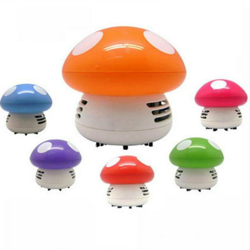 Cute Mini Mushroom Corner Desk Table Dust Vacuum Cleaner Sweeper D IUS New(China (Mainland))