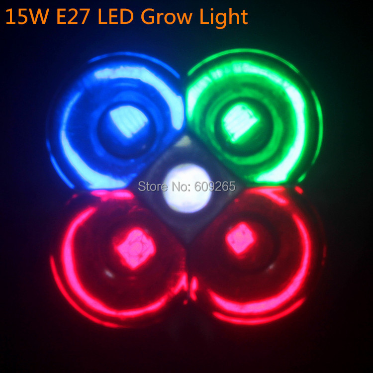 1X 15w E27/GU10 Full spectrum led grow lights Smallest for flowering,hydroponics system,grow box Drop/Free Shipping(China (Mainland))