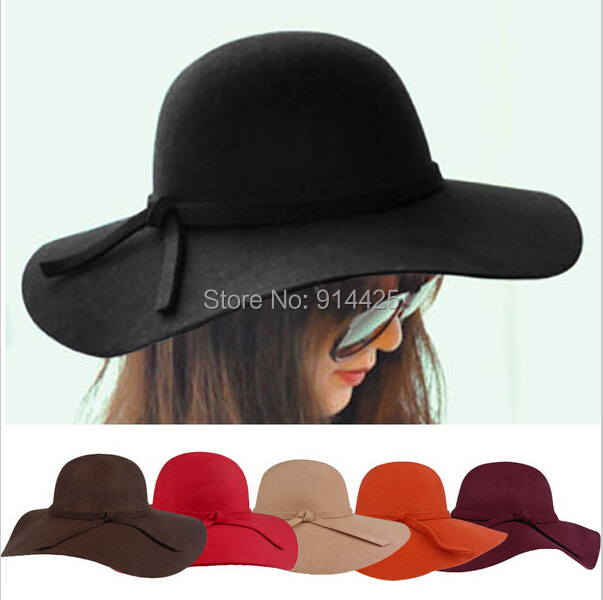 Женская фетровая шляпа Brand New 2015 Fedora Cloche Hat Cap 6 BM890 trendy cotton fedora hat cap black