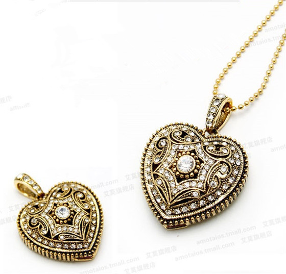 Bestselling love bronze heart necklace USB creativo usb flash drive 8GB 16GB 32GB usb memory stick pen drive 28% off S124(China (Mainland))