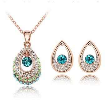 Water Drop Crystal Bridal Jewelry Set