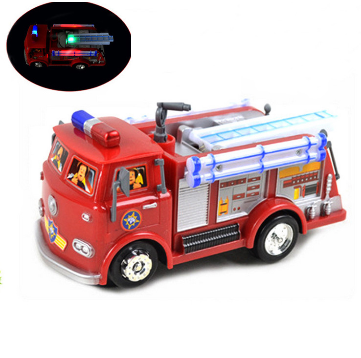 New Fireman Sam Toy Cars Truck Jupiter Music And Led Children Lovely Toys for Children's gifts(China (Mainland))