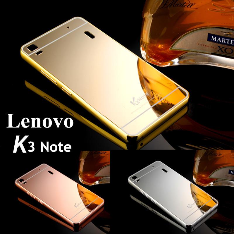 Lenovo K3 Note case ,New Luxury Gold Aluminum Matel Frame and Mirror Acrylic back Cover phone Covers For Lenovo Lemon K3 Note(China (Mainland))