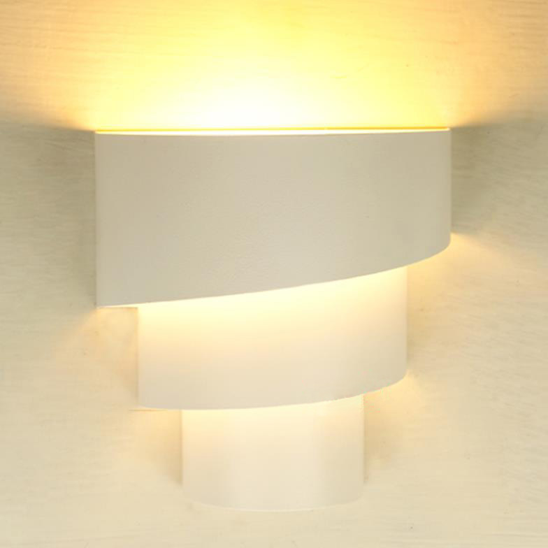New modern wetal wall light fixtue low wattage indoor led wall lamp e27 base type white or red ...