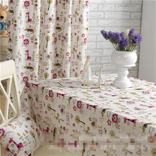 Free shipping Childlike innocence Cloth tablecloth Cotton & Linen table cover zakka High quality wholesale(China (Mainland))