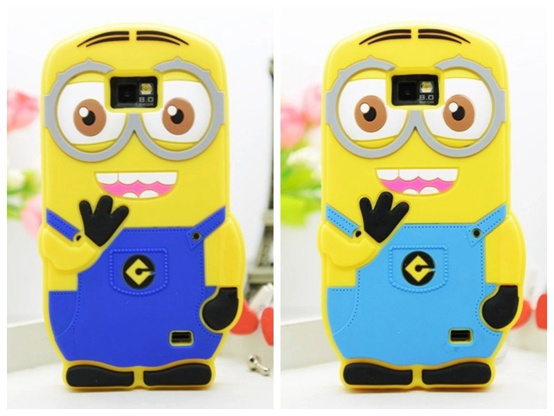 1 X New 2014 Cute Cartoon Despicable 2 Minions Soft Silicone Skin Cases Samsung Galaxy S2 II I9100 Covers - T-WELL INC. store