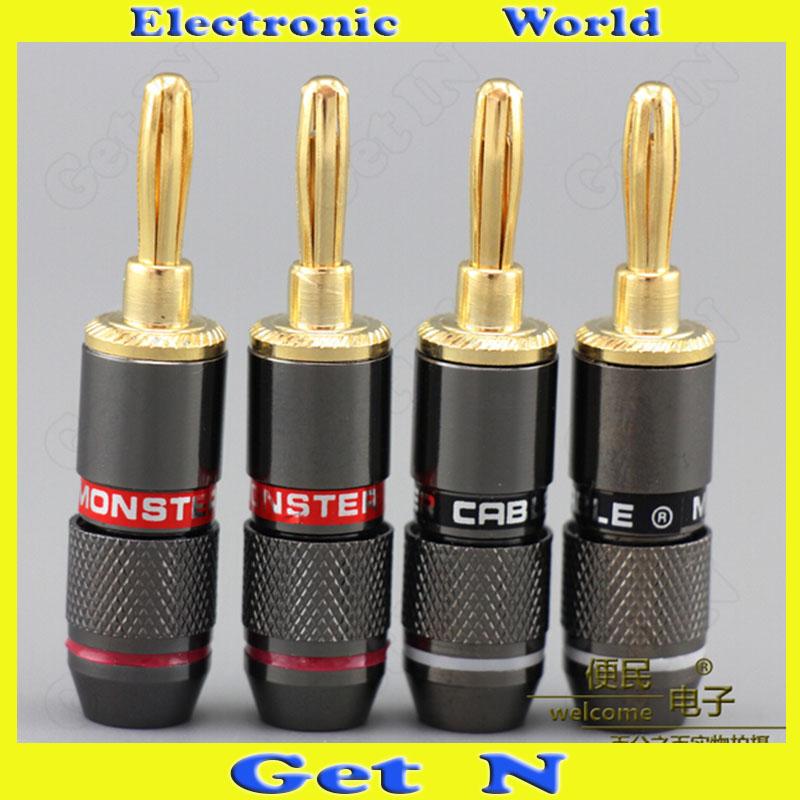 25pcs Monster Audio Speaker Cable Banana Jack Plug Audio Power Speaker Binding Post Terminal Connectors Banana Socket(China (Mainland))