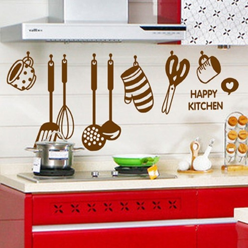 Hot Style Kitchen Refrigerator Ceramic Tile Adhesive Waterproof Wallpaper Wall Stickers Kitchen Utensils And Appliances(China (Mainland))