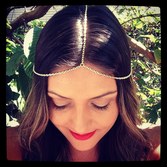 Hot Sale Fashion Deaign Head Chain Pieces Women Simple Hair Lead Headpiece Headband Chain Hair Head Wrap Jewelry Free Shipping(China (Mainland))