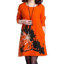 Embroidered Cotton Linen Plus Size Long Sleeves Maternity Dresses Clothes For Pregnant Women Autumn Spring Pregnancy Clothes