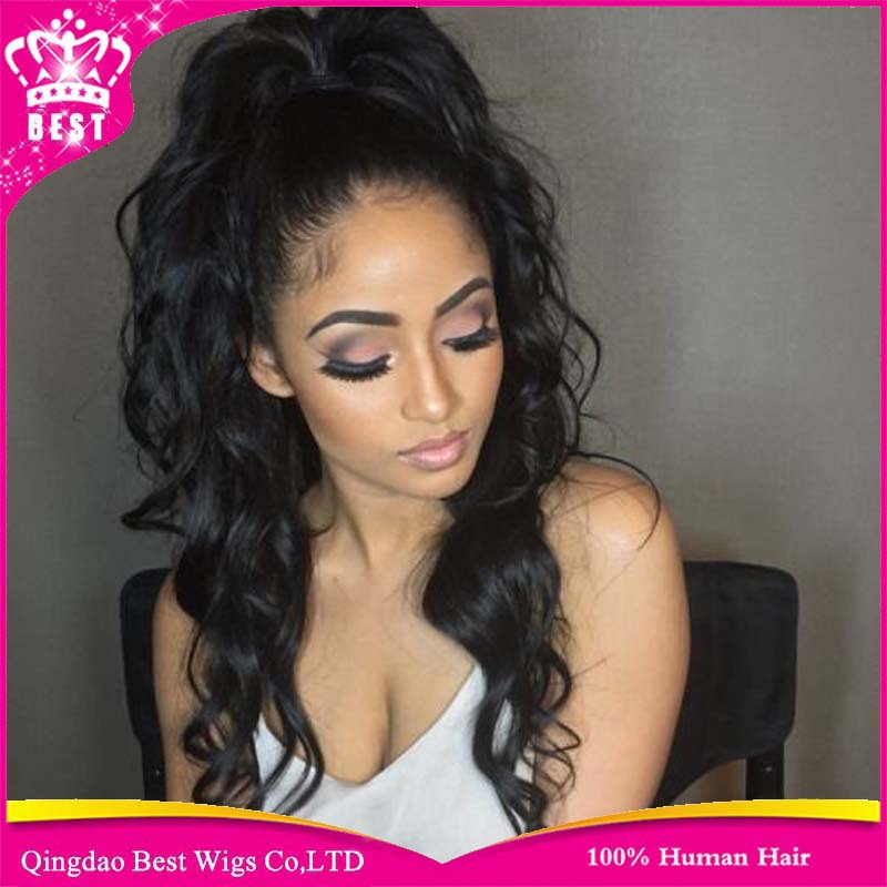 Lace Front Curly Human Hair Wigs Full Baby U Part Brazilian Vrign African Americans - Elva official store