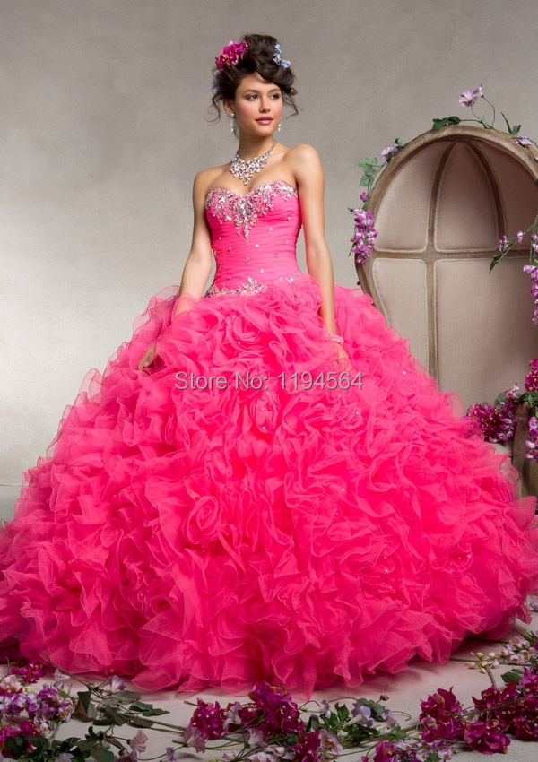 Poofy pink prom dresses