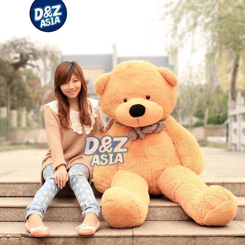 Lowest 2015 new life size teddy bear giant teddy bear plush toys plush bear toy for 200cm pillow Stuffed TV&Movie character(China (Mainland))