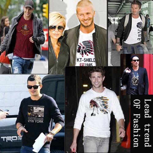 2013 New Retail CALIFORNIA TEE shirts men fashion TShirts PEDIDO CAMISETAS brasil T-Shirts male t shirts blouses FULL sleeve SS