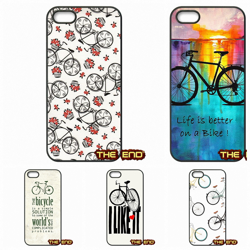 For Apple iPhone 4 4S 5 5C SE 6 6S Plus 4.7 5.5 iPod Touch 4 5 6 Nice People Ride Bicycles Cell Phone Capa Cases Shell(China (Mainland))