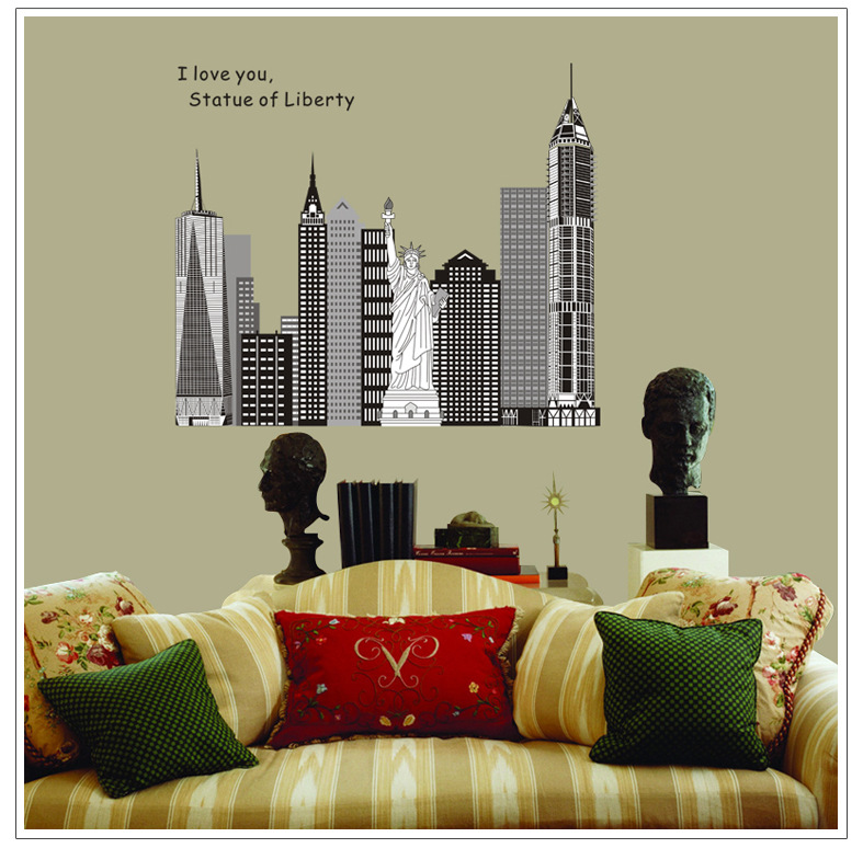 Home Decoration Removable Vinyl Large Wall Stickers Diy Bathroom Bedroom Decor Wall Art Posters