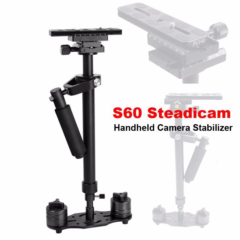 ถูก มืออาชีพS60 60เซนติเมตรวิดีโอS Tabilizerมือถือกล้องDSLRกล้องS Teadicamมั่นคงสำหรับกล้องวิดีโอDVกล้องDSLR Nikon Canonโซนี่พานาโซนิค