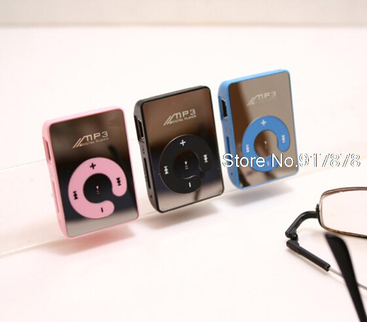 Mini Clip Mp3 Player/Players sport Mirror Mp3 SD/TF card MP3 Music Media +USB cable+earphone(China (Mainland))