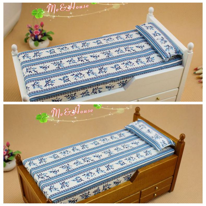 Product doll house mini furniture model drawer bed dual bed 22009(China (Mainland))