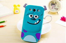 For Samsung Galaxy A3 A3000 Case Cover Monsters 3D Cute Cartoon Animal Tiger Sulley Tiger Alice Silicone soft rubber phone case(China (Mainland))