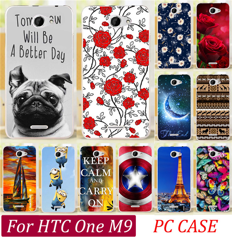 Top Selling Audrey Hepburn Cute Dog Tiger Skull Butterfly Rose Cat Keep Clam Batman Cases For HTC One M9 Phone Case Cover Shell(China (Mainland))