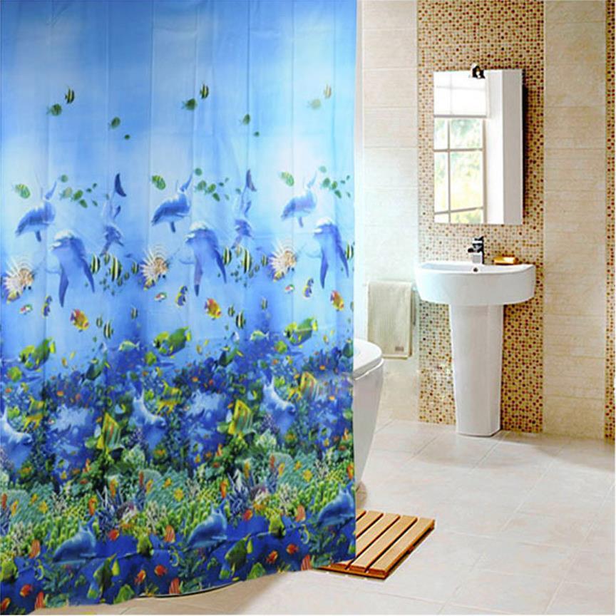 Salle de bains rideaux en tissu promotion achetez des for Rideau de douche tissu impermeable