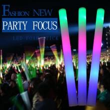 LED light foam stick 24pcs/lot ,3 modes multi Colors changing glow foam stick flashing stick for party Christmas festival(China (Mainland))