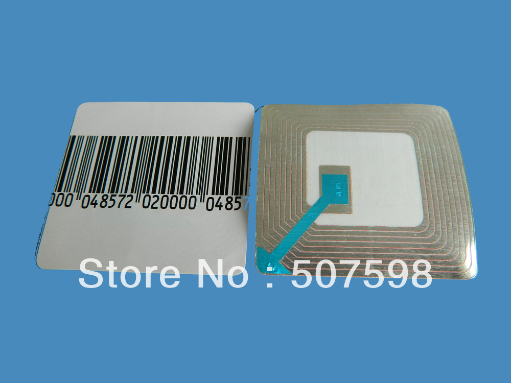HZSECURITY, EAS soft label 40*40mm, 40000PCS per lot, RF 8.2mhz, RF soft label, EAS sticker(China (Mainland))
