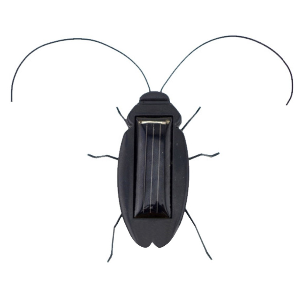 Mini Solar Powered Energy Educational Toy Cockroach Gadget Gift - Black(China (Mainland))