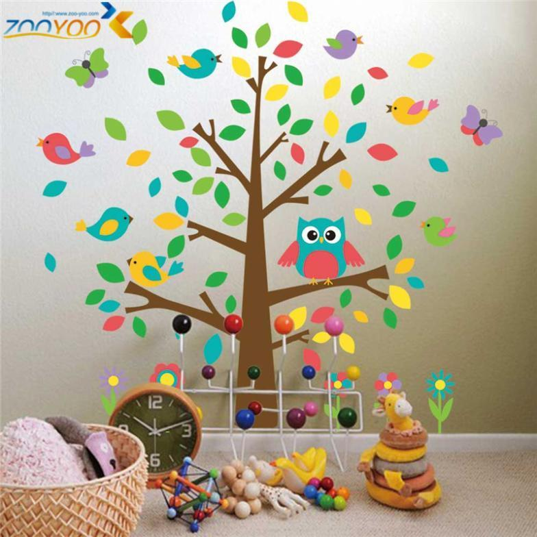 Wall Tattoo Kids : ... children decals animal wall decals tree zooyoo1015 Picture in Wall