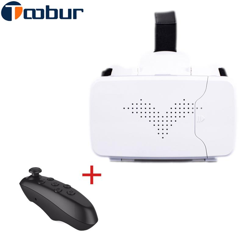 Toobur RITECH Riem 3 Version VR Virtual Reality 3D Glasses+ B500 VR Bluetooth Remote Control Gamepad For 3.5 - 6 inch Smartphone(China (Mainland))