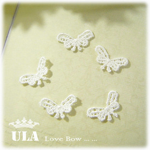 Wholesale applique butterfly design DIY Decoration Lace Fabric Paste Decoraive Cloth Paste Lace Applique 200pcs/lot