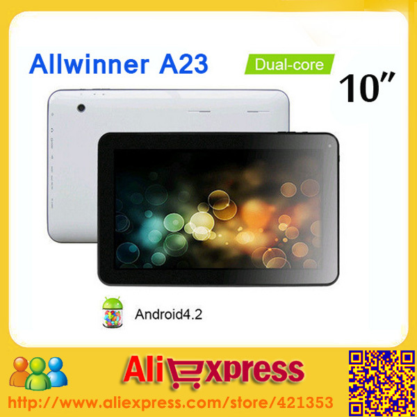 Factory wholesale Cheap Tablet PC 10 inch Dual Core Allwinner A23 Dual Camera 1GB RAM 8GB ROM, 5pcs/lot DHL Free Shipping(China (Mainland))