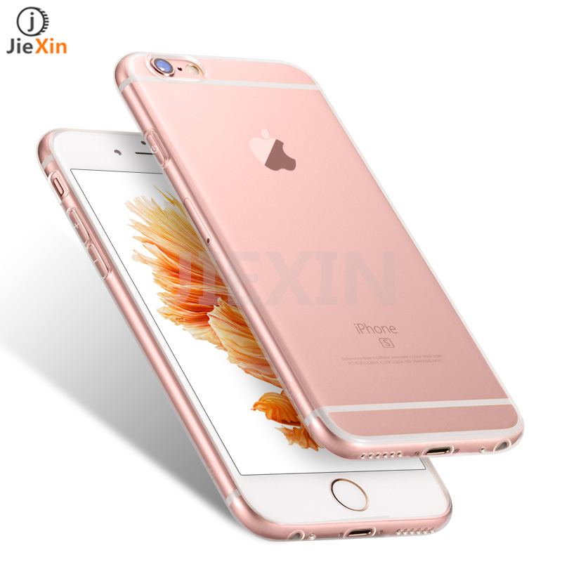 Original Ultra Thin HD 0.6mm Clear TPU Case For Iphone 6s 6 plus Slim Dust plug Back Protect Skin Rubber Phone Bag Cover Case(China (Mainland))