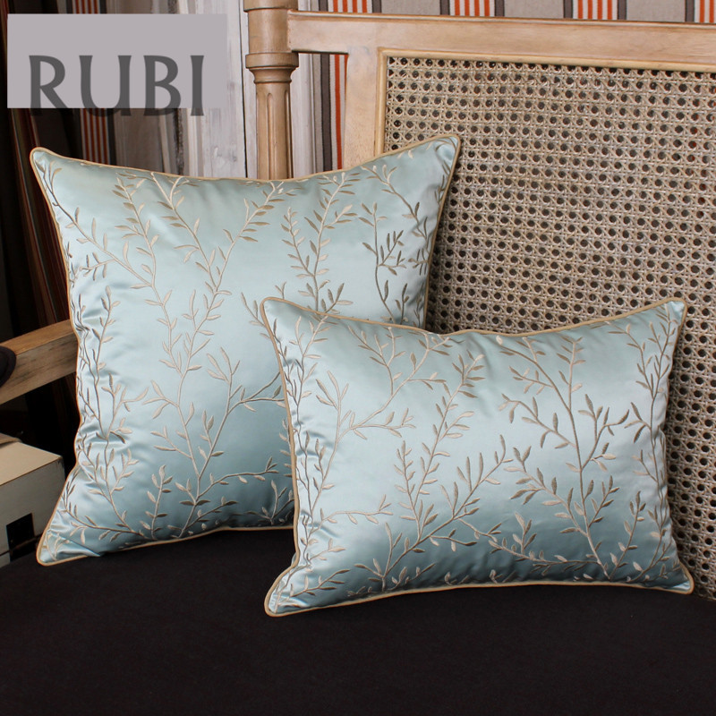 Silks and satins embroidered decorative cushions(without inner )throw pillows luxury sofa home decor chinese capa de almofada