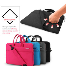 Buy 12 11 Inch big size Nylon Computer Laptop Solid Notebook Laptop Tablet Bag Bags Case Messenger Shoulder unisex men women Durable for $21.24 in AliExpress store