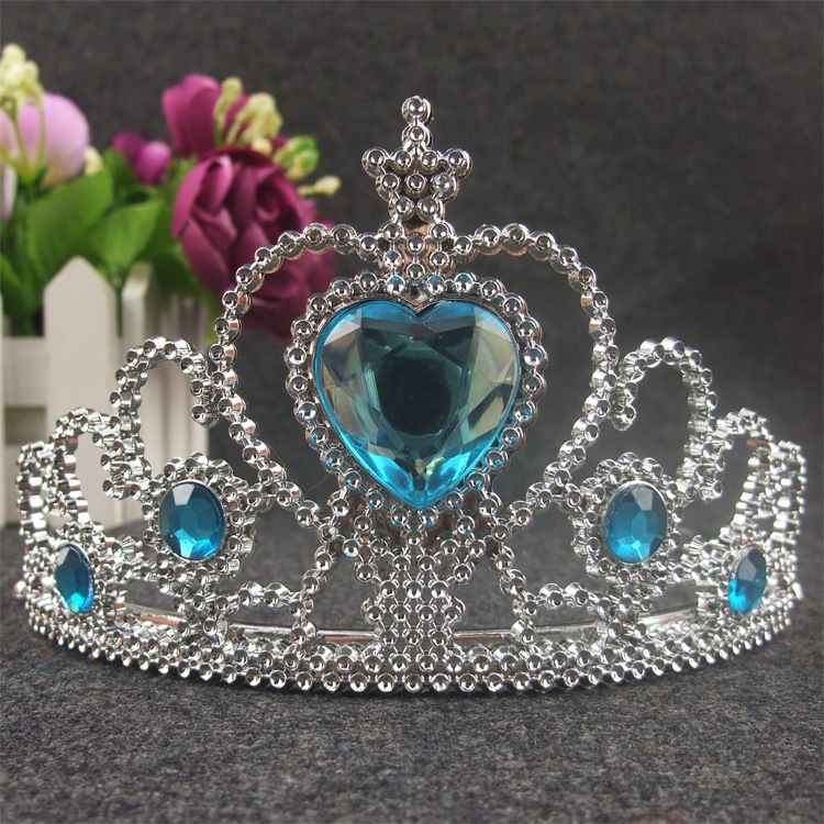 Tiara Noiva 2016 Plastic New Arrival Hot Fashion Jeweled F-r-o-z-e-n Princess Crown Children Girl Hair Pin Hair Jewelry(China (Mainland))