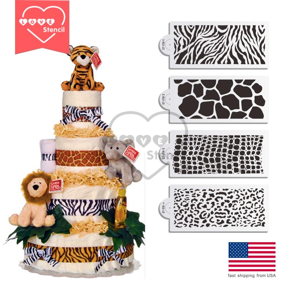 Online kaufen gro handel animal stencils aus china animal - Kuchen wanddekoration ...