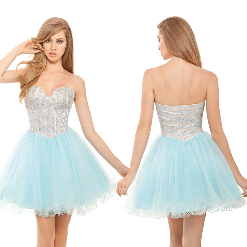 High Quality Wholesale light blue cocktail dress from China light ...