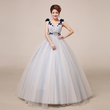 luxury beading floral light grey blue long medieval dress Renaissance Gown princess Victori/Marie Antoinette/ball gown