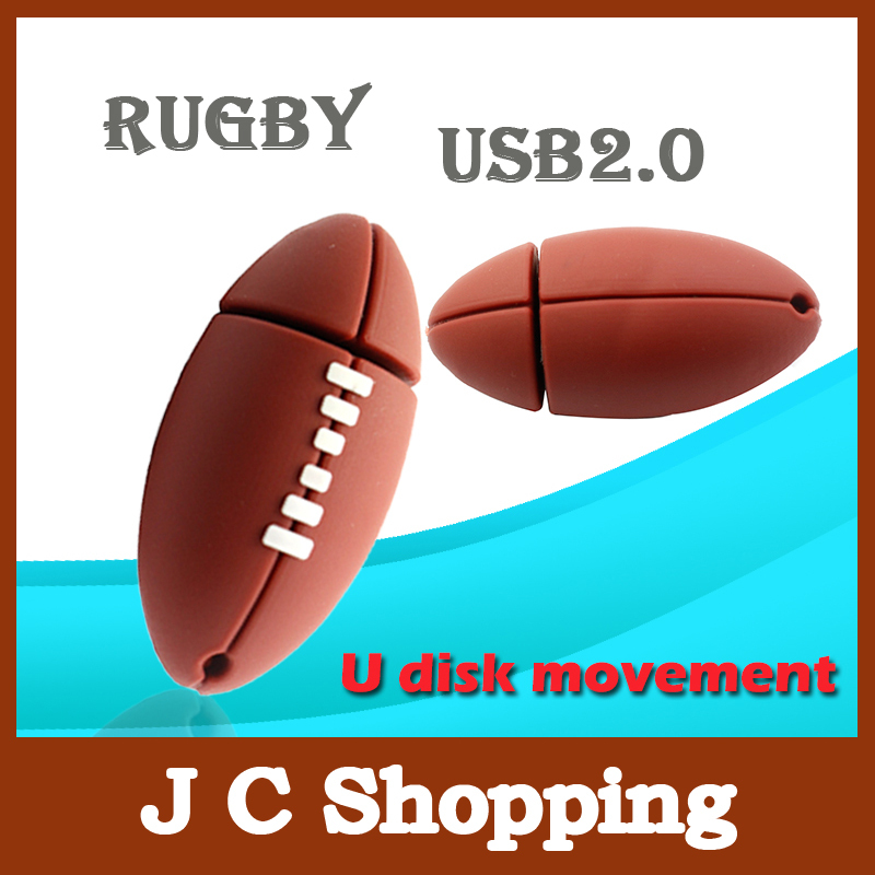 Pen drive American Football Sports Rugby U Disk 4GB 8GB 16GB 32GB USB Flash Drive 2.0 Memory Drive Stick Pendrive Creative gift(China (Mainland))