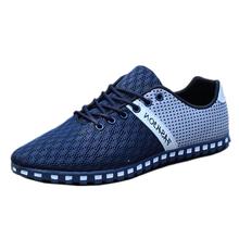 Summer Style 2016 Men Shoes Breathable Mesh Shoes Outdoor Walking Shoe Comfortable Mens Casual Shoes Plus Size