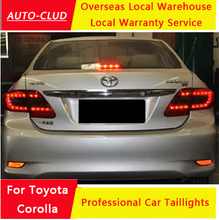 Auto-Clud for toyota corolla led taillights 2011-13 for toyota corolla led rearlights turn +brake+reverse+fog light car styling(China (Mainland))