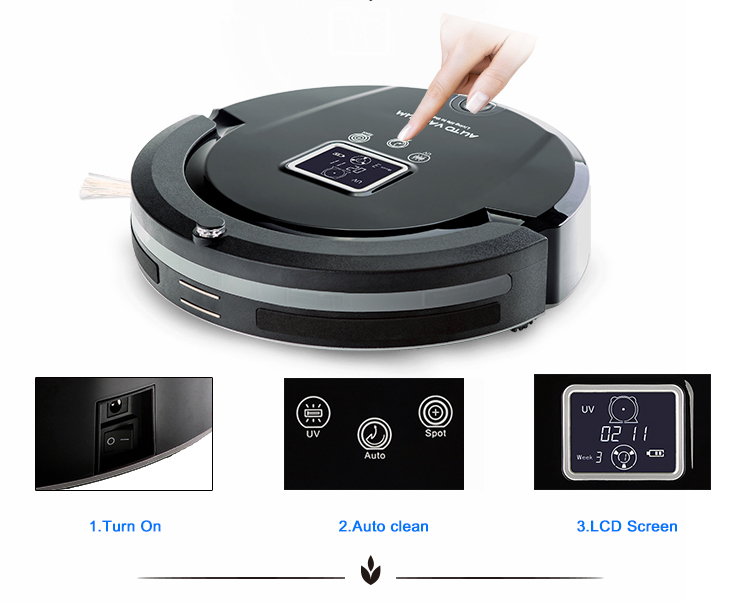 New Arrival Chrismas Gift Robot Vacuum Cleaner Intelligent Hoover Anti Collision Anti Fall(China (Mainland))