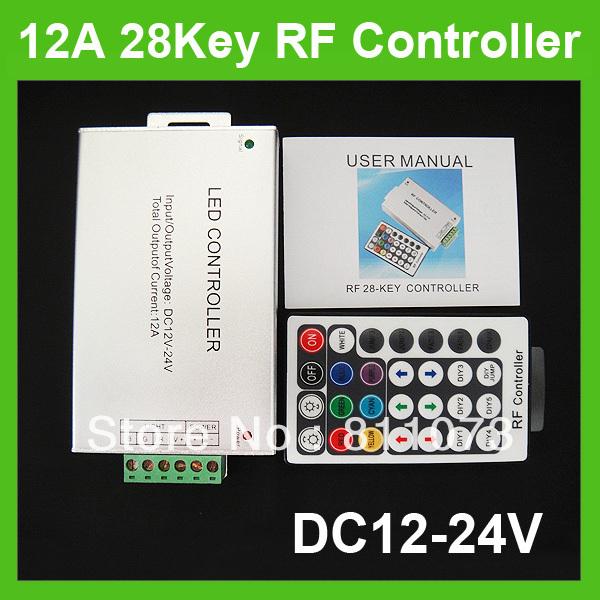 Free shipping+ 12V 12A LED Wireless 28key RF LED RGB Remote Controller(China (Mainland))
