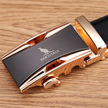 Famous Brand Belt Men 100% Good Quality Cowskin Genuine Luxury Leather Men's Belts for Men,Strap Male Metal Automatic Buckle(China (Mainland))